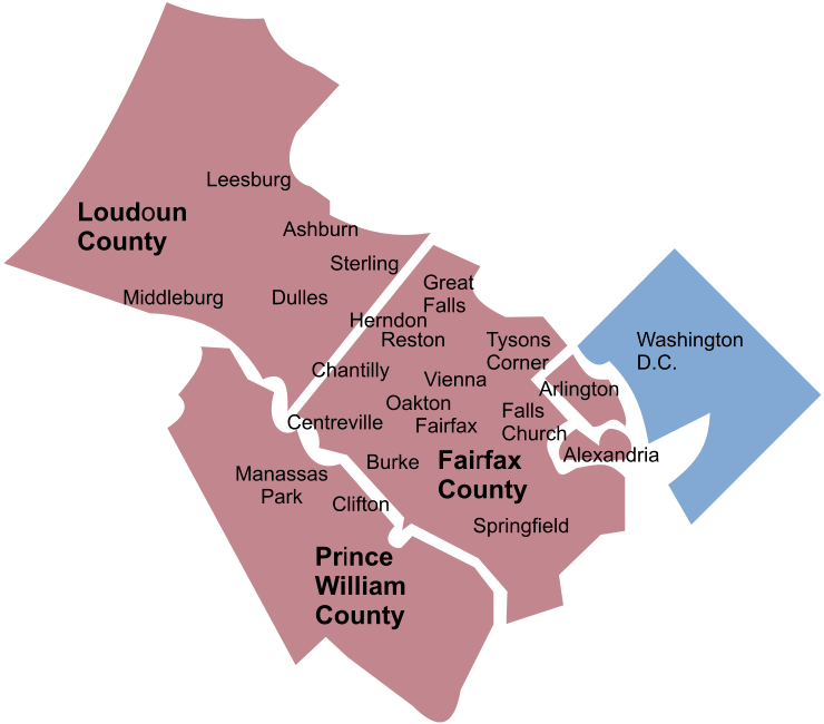 Services areas map